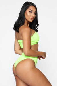 Smock My Way 2 Piece Bikini - Lime
