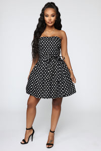 Baylee Polka Dot Dress - Black/White