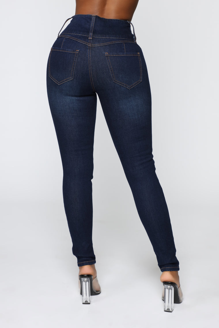 Not Your Girl Skinny Jeans - Dark Denim