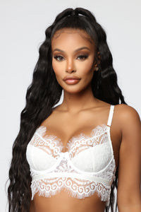 Live A Little Fun Lace Bralette - White