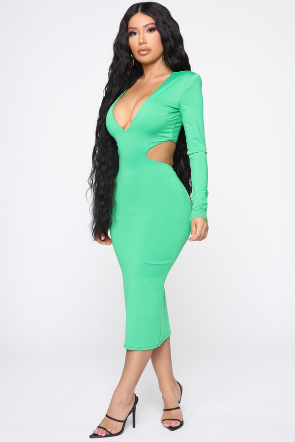 092307ca4dd Feeling Like New Midi Dress - Kelly Green