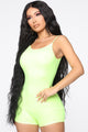 Nova Season Neon Shortie Romper - Neon Yellow