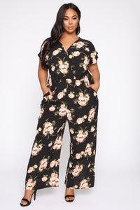 All The Flare Jumpsuit - Black