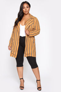 Along For The Rise Blazer - Mustard