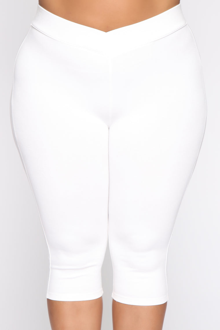 Ride Out Biker Shorts - White