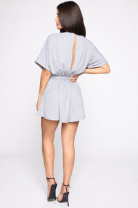Casual Lounger Romper - Heather Grey