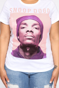 Snoop Dogg Graphic Top - White