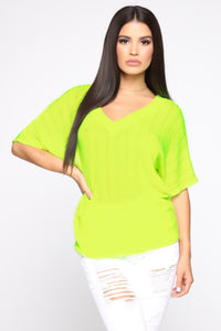 Can't Stop Desire Top - Neon Yellow