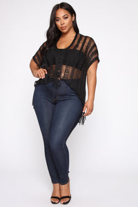 Make Me Yours Crochet Top - Black