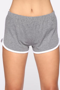 Conquering Mountains Shorts - Dark Grey Angle 3
