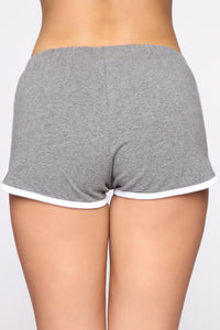 Conquering Mountains Shorts - Dark Grey Angle 6