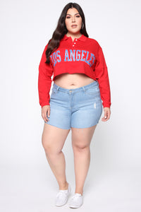 Los Angeles Rugby Top - Red