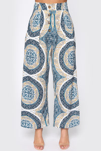 There's No Point In Waiting Flare Pants - Blue