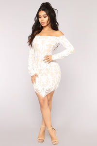 Throw Shine Not Shade Sequin Dress - White