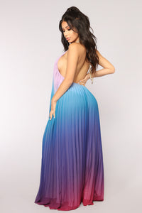 Sunset Ombre Dress - Blue Ombre
