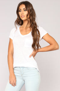 Lorea V Neck Top - White