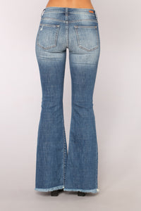 Take It Slow Flare Jeans - Dark Denim
