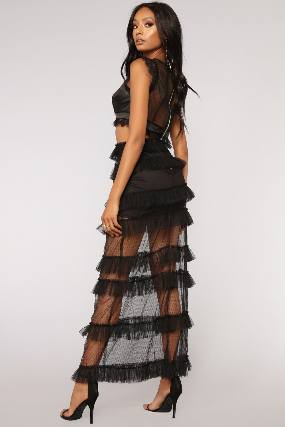 From A Dream Ruffle Skirt - Black