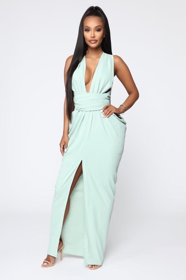 ab99fe47c3 Pose From Different Angles Maxi Dress - Mint