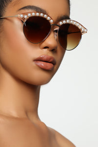Tempted Sunglasses - Gold/Crystal Angle 2