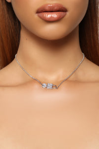 Lock It Up Necklace - Silver
