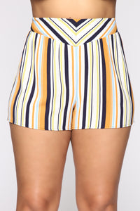 Kiara High Rise Print Shorts - Ivory/Multi Angle 8