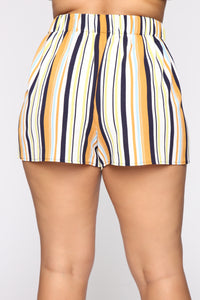 Kiara High Rise Print Shorts - Ivory/Multi Angle 12