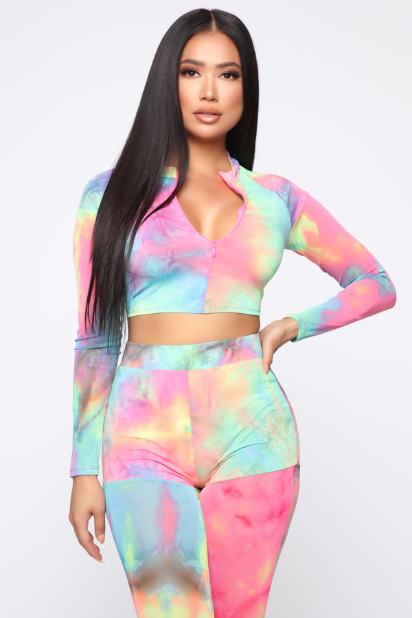 744ad9aded4 Psychedelic Contrast Mesh Set - Multi