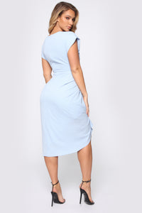 Antonia Midi Dress - Blue