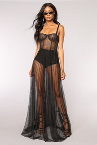 Starring Role Mesh Dress - Black