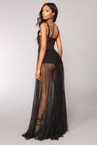 Starring Role Mesh Dress - Black Angle 5