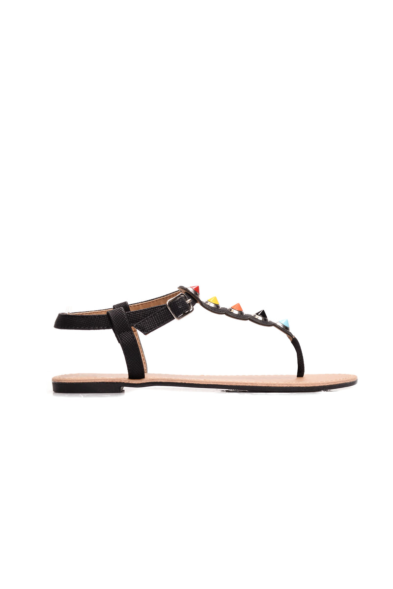 Candy She Better Do Sandal - Black