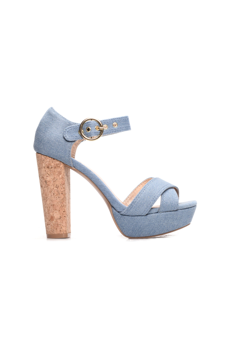 Call Me Corky Heel - Denim