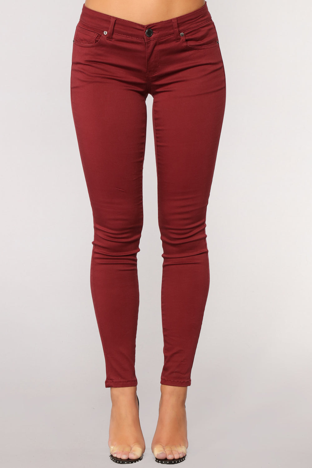 Back to Back Skinny Jeans - Wine