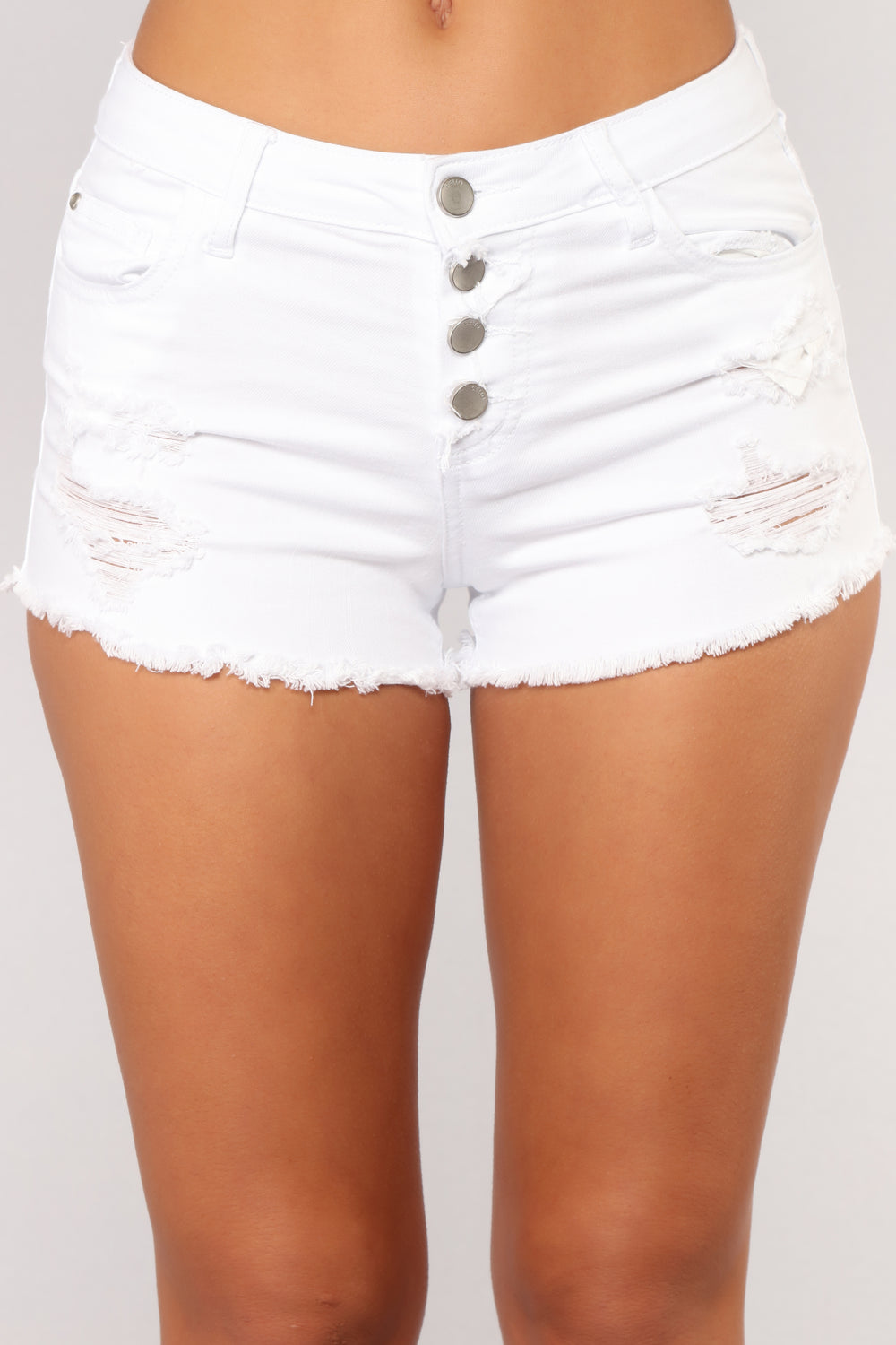 Make The Scene Denim Short - White