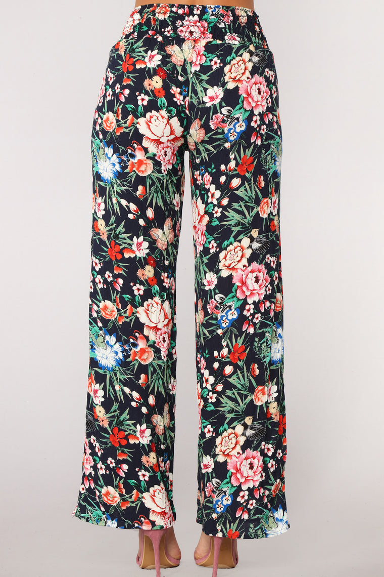 Your New Favorite Print Pants - Blue Multi