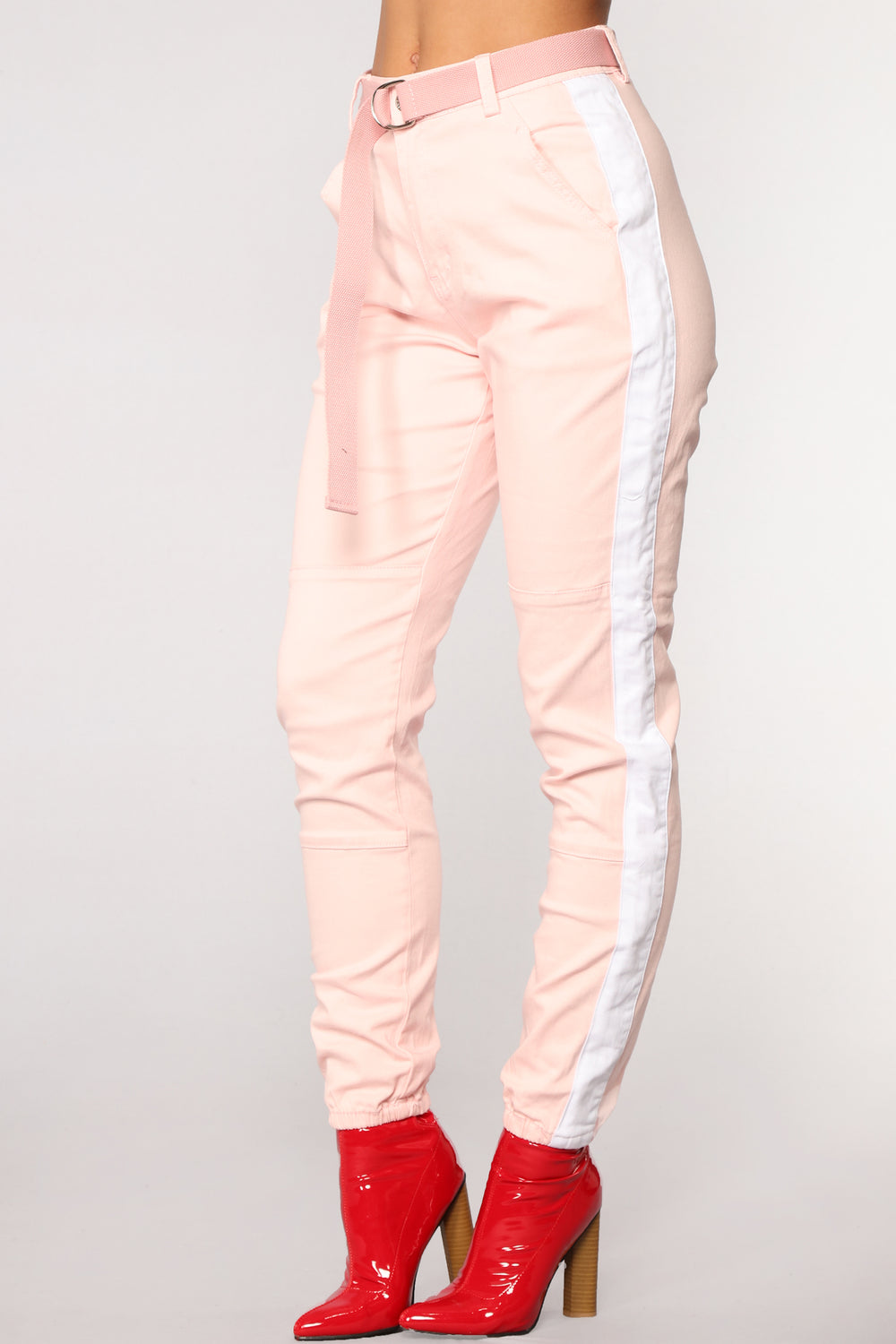 Jada Side Stripe Joggers - Pink