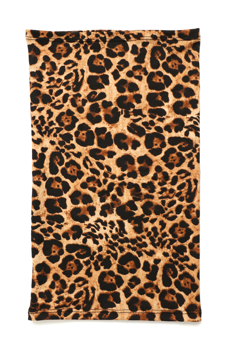 Fully Covered Leopard Face Mask - Leopard