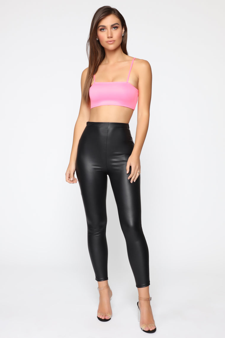 Time To Stand Out Crop Top - Neon Pink