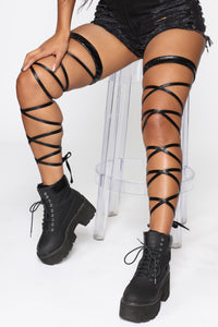 Rage Til Sunset Leg Wrap Set - Black