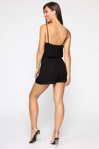 Looking Good Romper - Black Angle 4