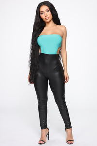 Summer is Back Backless Bodysuit - Jade