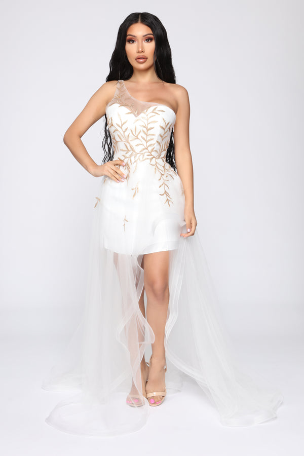 3d252f0c032 I m Altered Dress - White
