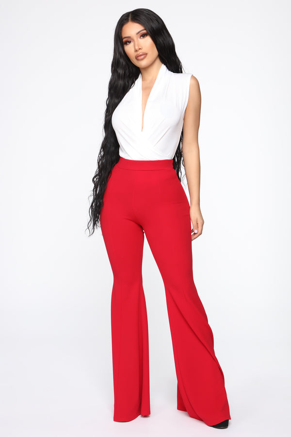 269a604645 Groove Along Flare Pants - Red