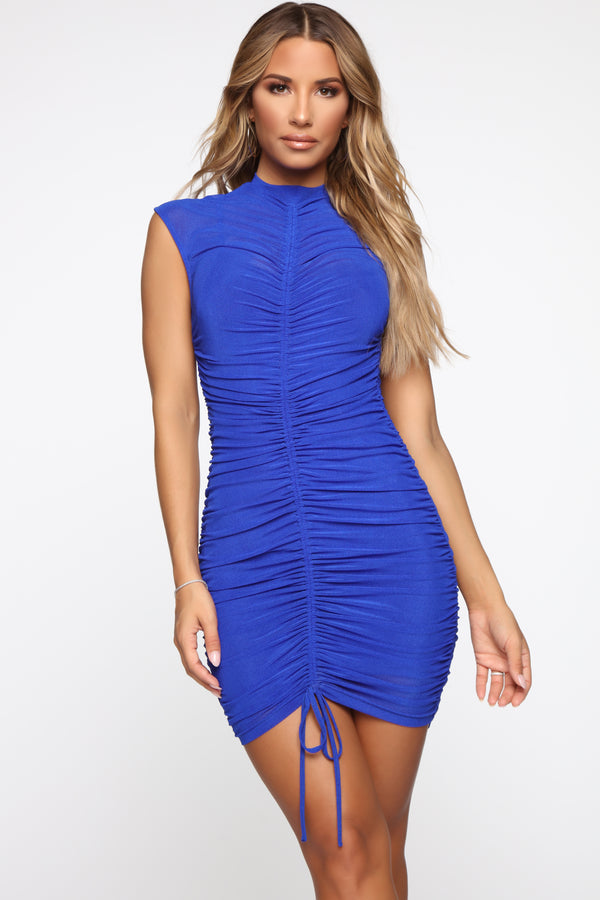 e511ee8b42 Pose For The Paparazzi Ruched Dress - Royal