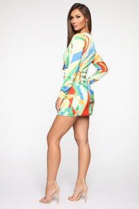 Back In The Day Mini Dress - Multi Angle 3