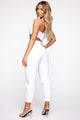Cutting Him Off Tube Bodysuit - White