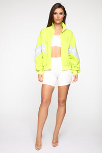 Pull Up Jacket - Neon Green