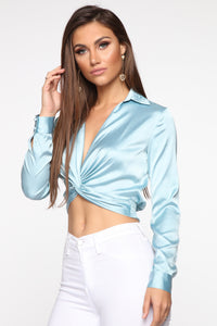 Don't Get This Twisted Top - Blue