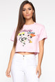 Power Puff Girls Crop Top - Pink